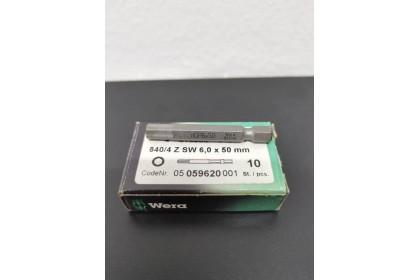 [Wiseglo.com] WERA 05059620001 840/4 Z SW 6,0 X 50MM HEX DRIVER BIT